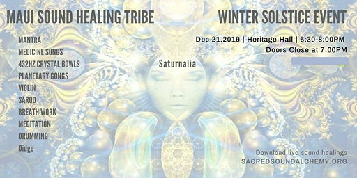 Maui Sound Healing Tribe-Winter Solstice Event