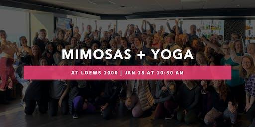Mimosas + Yoga at Loews 1000