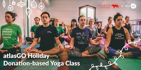 Holiday yoga class with atlasGO! tickets