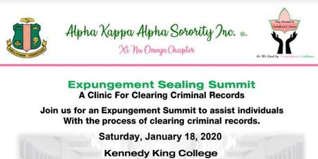 FREE 2020 Expungement Sealing Summit tickets