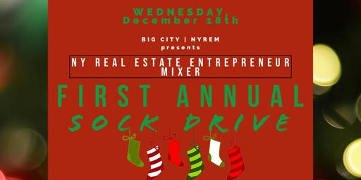 """NY Real Estate """"Sock Drive"""" Mixer Tillary Hotel"""