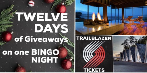Twelve Days of Giveaways BINGO Night