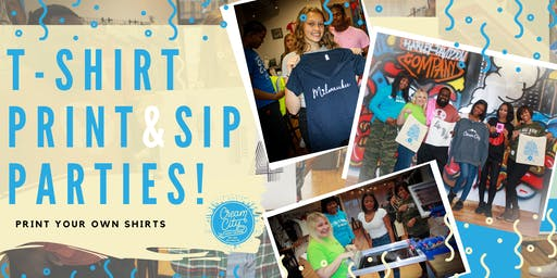 Screen Print and Sip Party