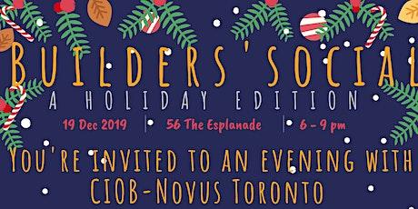 CIOB Novus Toronto: Builders' Social tickets