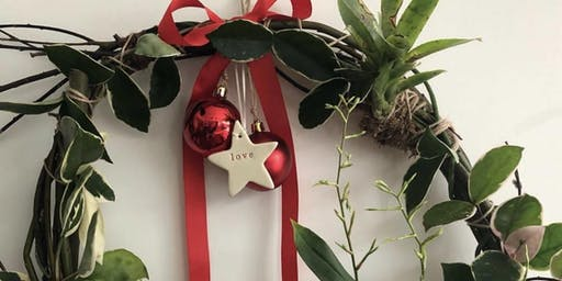 Small Living Christmas Wreath