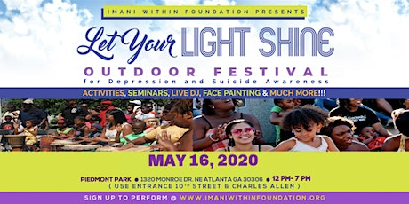 Let Your Light Shine Outdoor Festival for Depression & Suicide Awareness! tickets