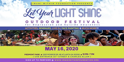 Let Your Light Shine Outdoor Festival for Depression & Suicide Awareness!