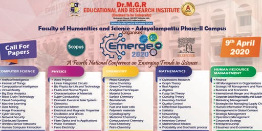 Fourth National Conference on Emerging Trends in Sciences , EMERGE 2020