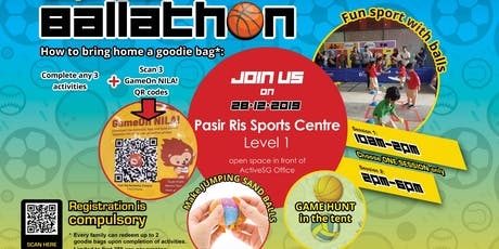 Festive Supreme Ballathon @ Pasir Ris ActiveSG (pls download Activesg app) tickets