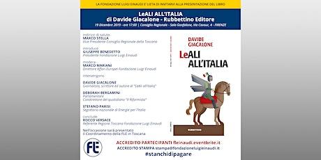 """Presentazione libro """"LeALI ALL'ITALIA"""" di Davide Giacalone a Firenze biglietti"""