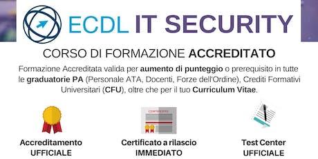 Corso ECDL IT Security biglietti