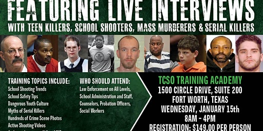 Profiling Teen Killers, School Shooters, Mass Murderers and Serial Killers by Phil Chalmers-Fort Worth, TX-January 15, 2020