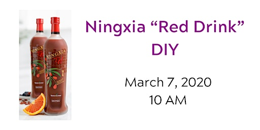 "Ningxia ""Red Drink"" DIY"