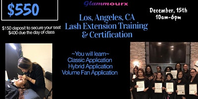 Glammourx Los Angeles, CA Lash Extension Training & Certification