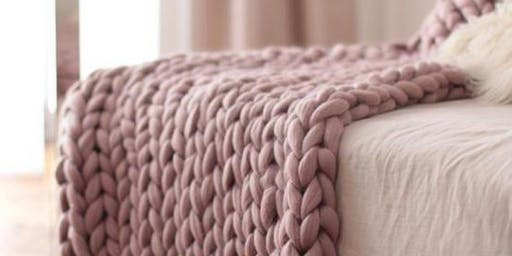 Learn to Arm Knit a Giant Blanket