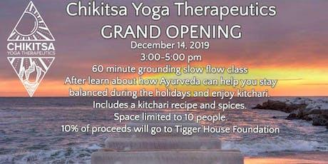 Chikitsa Yoga Therapeutics Grand Opening tickets