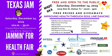 Texas Jam Health Fair - Jammin For Health tickets