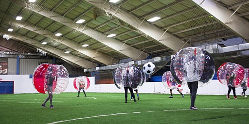 KNOCKERBALL ON THE ROOF (BUBBLE BALL FUN)