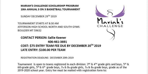 Mariah's Challenge 3on3 Basketball Tournament