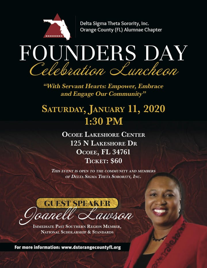 Events In Orange County January 2020.Founders Day Celebration Luncheon Tickets Sat Jan 11 2020