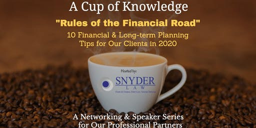Cup of Knowledge Networking & Speaker Series  (December 2019)
