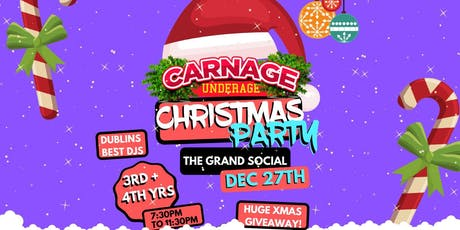 Carnage Christmas Party tickets