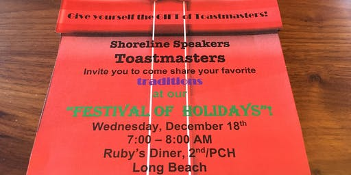 Toastmasters Festival of Holidays