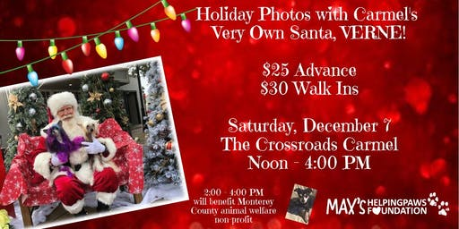 Holiday Dog Photos at the Crossroads with Verne!