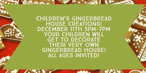 Children's Ginger Bread House Creations