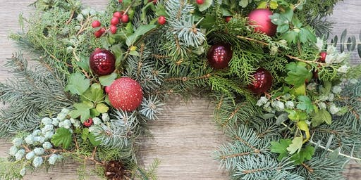 Holiday Wreath Workshop at Detonate Brewing