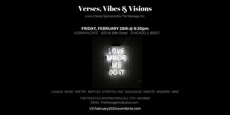 """Verses, Vibes & Visions Live Lit Series: """"Love Made Me Do It!"""" tickets"""