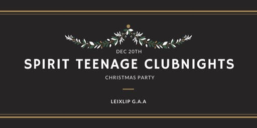 Spirit Teenage Club-Nights Christmas Party
