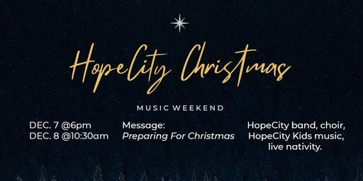 HopeCity  Christmas | Music Weekend