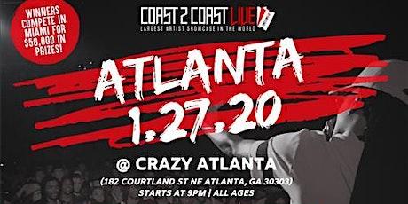 Coast 2 Coast LIVE Showcase Atlanta, GA - Artists Win $50K In Prizes tickets