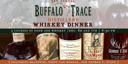 Saturday Buffalo Trace Distillery Dinner - Food Only