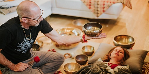 Singing bowl chakra balancing with dharmashop founder sander cohen