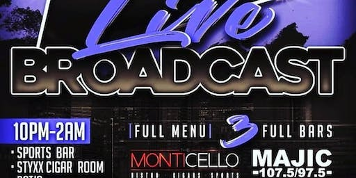 Saturday Night Live Broadcast @ Monticello • VIP/BDay Sections 404.576.8471