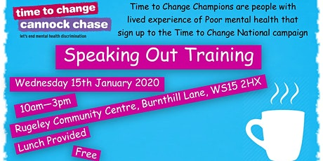 Speaking Out Training by Time to Change tickets