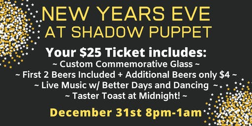 New Year's Eve Celebration at Shadow Puppet Brewing Company