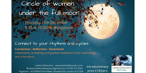 Circle of women under the full moon