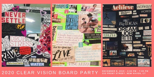 2020 Clear Vision Board Party
