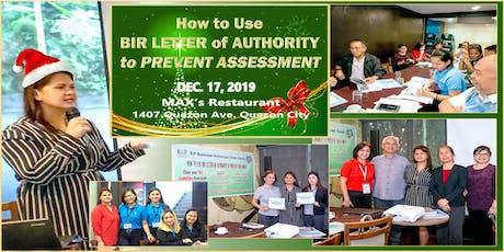 How to Use BIR Letter of Authority to PREVENT ASSESSMENT tickets