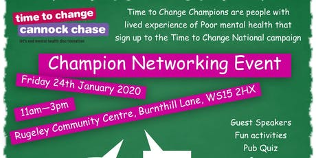 Time to Change Champion Networking Event tickets