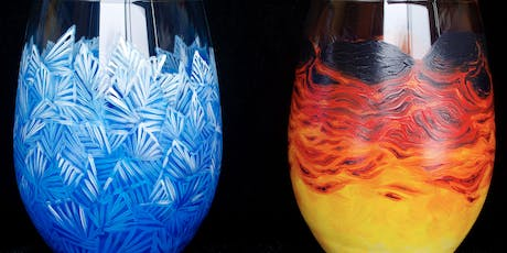 """Adult Open Paint (18yrs+)  """"Fire & Ice"""" Glasses tickets"""
