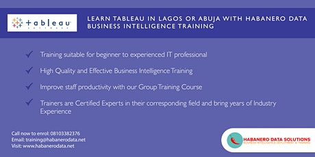 Tableau Essentials - 5 Day Instructor Led Training in Lagos - February 2020 tickets