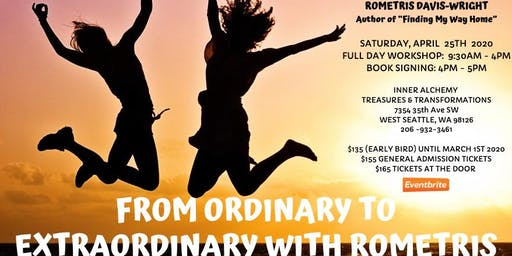 FROM ORDINARY TO EXTRAORDINARY WORKSHOP & BOOK SIGNING WITH ROMETRIS!