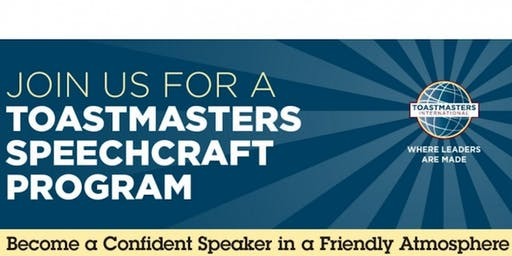 Toastmasters Speechcraft Program (special 6-week event)