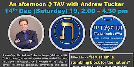 """""""Jerusalem: A stumbling block for the nations"""", latest update by Andrew Tucker.  tickets"""