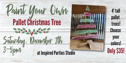 Paint Your Own! 4 Foot Pallet Christmas Tree!