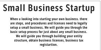 Business Enhancement Series presents................Small Business Startup